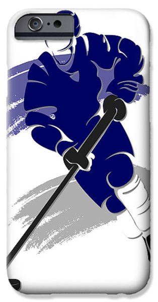 Toronto Maple Leafs iPhone Cases - Maple Leafs Shadow Player2 iPhone Case by Joe Hamilton