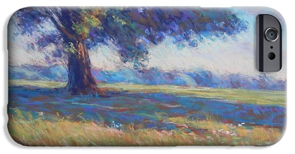 Impressionism Pastels iPhone Cases - Maple on the Hillside iPhone Case by Michael Camp