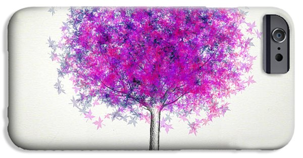 Recently Sold -  - Tree Art Print iPhone Cases - Maple Tree 5 iPhone Case by Syed Bilawal Kamal