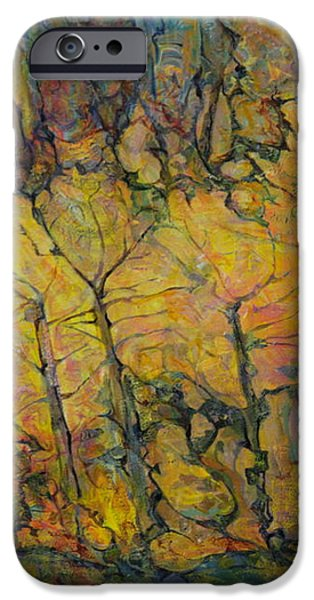 Abstract Expressionism iPhone Cases - Maples iPhone Case by Anna Yurasovsky