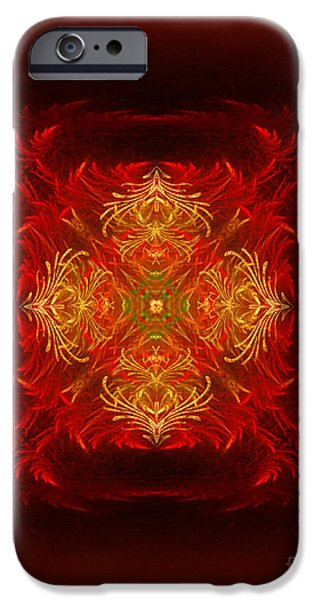 Mapping the soul - spiritual abstract art by Giada Rossi iPhone Case by Giada Rossi