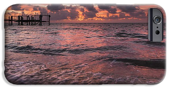 Gulf Of Mexico iPhone Cases - Marathon Key Sunrise Panoramic iPhone Case by Adam Romanowicz