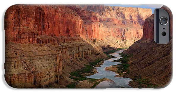 Drama iPhone Cases - Marble Canyon iPhone Case by Inge Johnsson