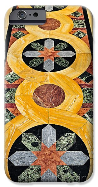 Flooring iPhone Cases - Marble floor in Orthodox church iPhone Case by Elena Elisseeva