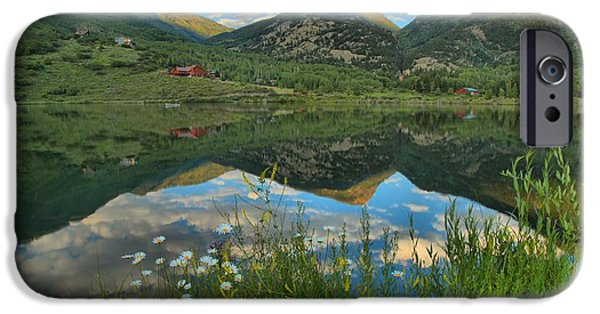 Beaver Lake iPhone Cases - Marble Wildflower Sunset iPhone Case by Adam Jewell