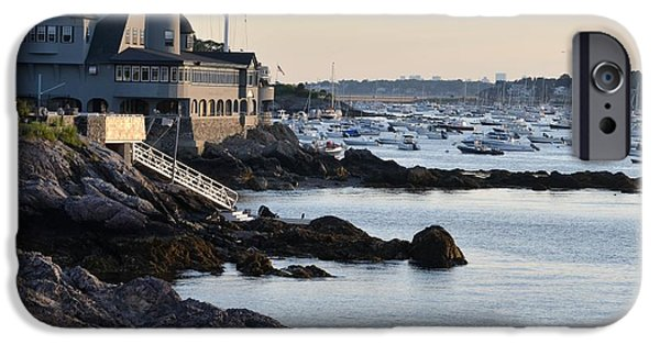 Sailboat Ocean iPhone Cases - Marblehead Harbor Chandler Hovey Park iPhone Case by Toby McGuire