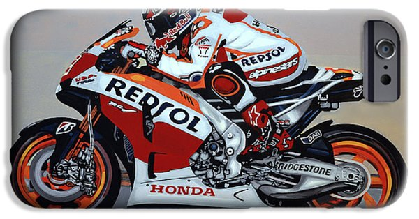 Athlete iPhone Cases - Marc Marquez iPhone Case by Paul Meijering