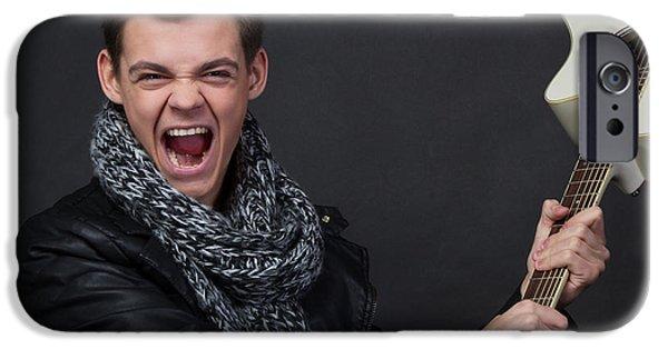 Gitarre iPhone Cases - Marcel15 iPhone Case by Roland Bedernik