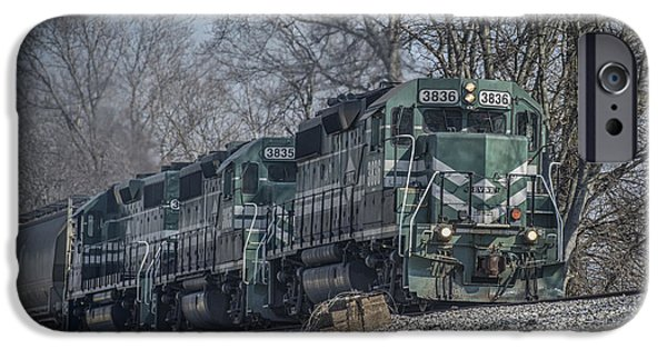 Evansville iPhone Cases - March 11. 2015 - Evansville Western Railway at Mount Vernon Indiana iPhone Case by Jim Pearson