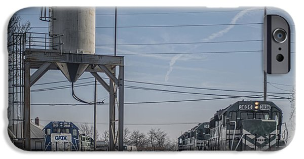 Evansville iPhone Cases - March 11. 2015 - Evansville Western Railway engine 3836 iPhone Case by Jim Pearson