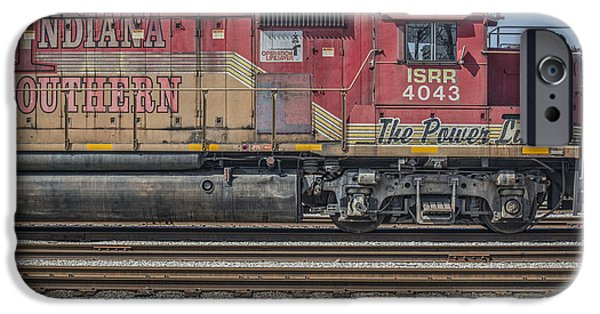 Southern Indiana iPhone Cases - March 11. 2015 - Indiana Southern Railway engine 4043 iPhone Case by Jim Pearson