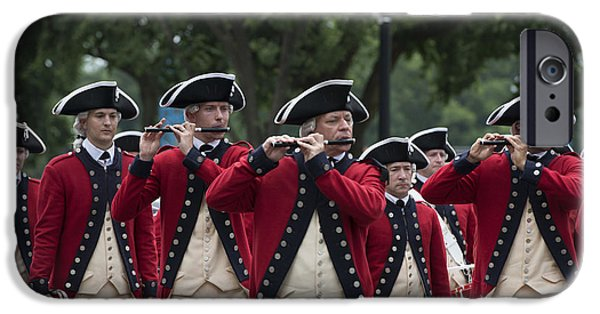 4th July iPhone Cases - Marching Band at the July 4th Parade  iPhone Case by Carol M Highsmith