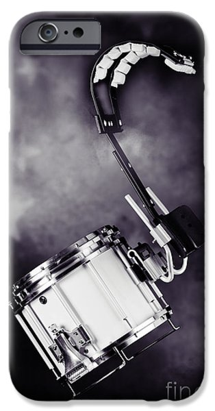 Marching Band Photographs iPhone Cases - Marching Band Snare drum Photograph in Sepia 3329.01 iPhone Case by M K  Miller