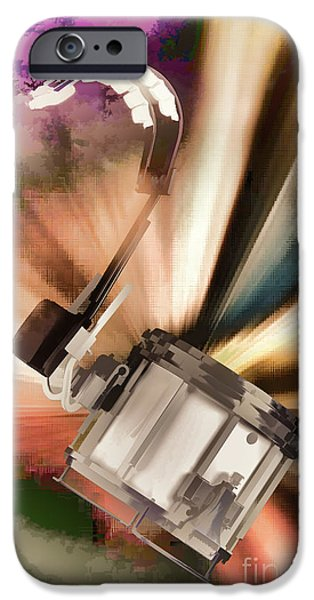 Marching Band Photographs iPhone Cases - Marching Snare drum Music Painting in Color 3328.02 iPhone Case by M K  Miller
