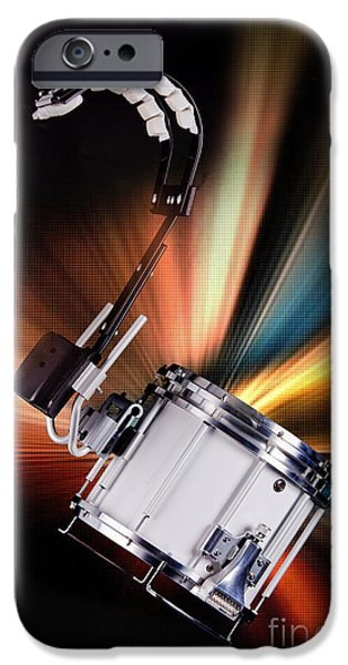 Marching Band Photographs iPhone Cases - Marching Snare drum Music Photograph in Color 3327.02 iPhone Case by M K  Miller