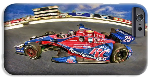 Marco Andretti iPhone Cases - Marco Andretti iPhone Case by Blake Richards