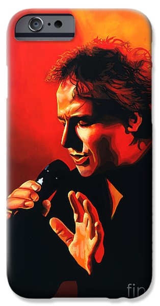 Holland Paintings iPhone Cases - Marco Borsato iPhone Case by Paul  Meijering