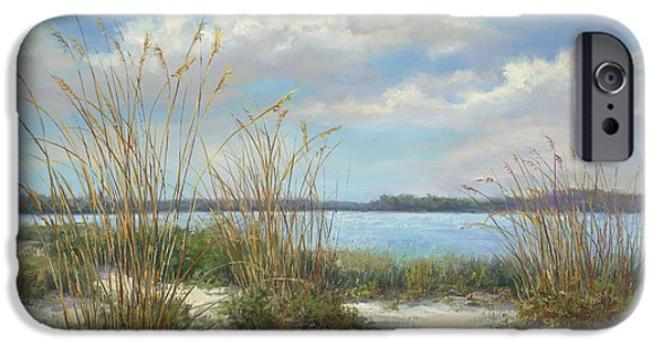 Beach Landscape Paintings iPhone Cases - Marco Island iPhone Case by Laurie Hein