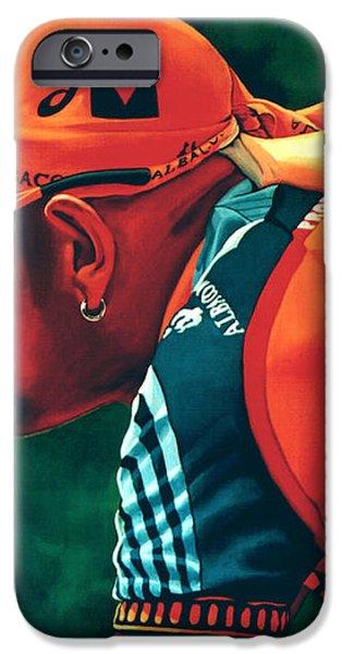 Marco Pantani 2 iPhone Case by Paul  Meijering