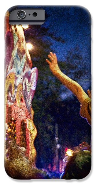 Mardi Gras at Night iPhone Case by Ray Devlin