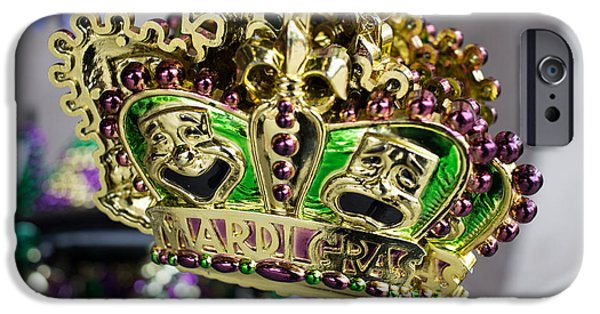 Celebration Photographs iPhone Cases - Mardi Gras Beads iPhone Case by Edward Fielding