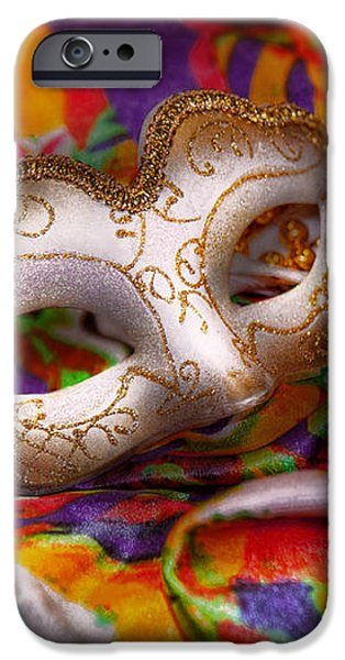 Mardi Gras - Celebrating Mardi Gras  iPhone Case by Mike Savad