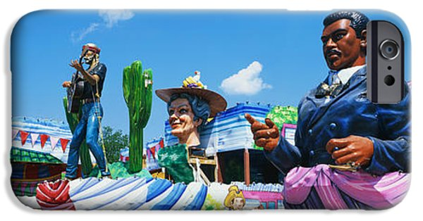 New Individuals iPhone Cases - Mardi Gras Floats iPhone Case by Panoramic Images