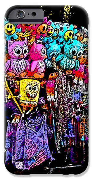Mardi Gras Vendor's Cart iPhone Case by Marian Bell