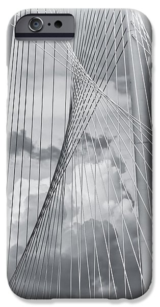 River iPhone Cases - Margaret Hunt Hill Bridge iPhone Case by Joan Carroll