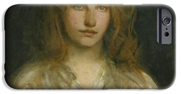 Abbott Handerson Thayer iPhone Cases - Margaret MacKittrick iPhone Case by Celestial Images