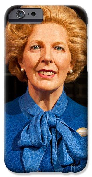 Baroness iPhone Cases - Margaret Thatcher iPhone Case by Luis Alvarenga