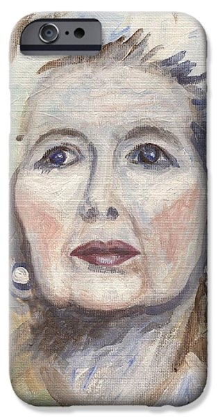 Recently Sold -  - Politician iPhone Cases - Margaret Thatcher One iPhone Case by Linda Mears