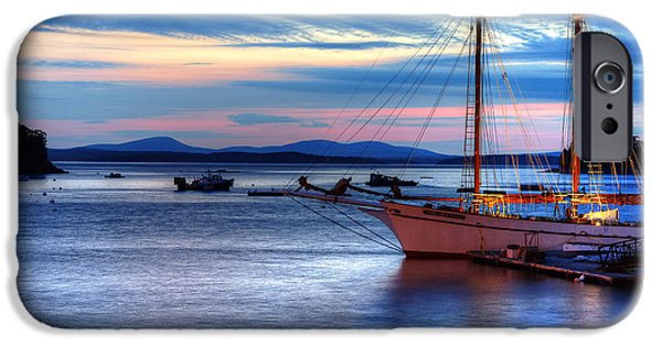 Windjammer iPhone Cases - Margaret Todd at Sunrise iPhone Case by Donna Doherty