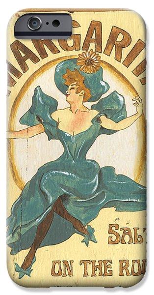 Art Nouveau iPhone Cases - Margarita salt on the rocks iPhone Case by Debbie DeWitt