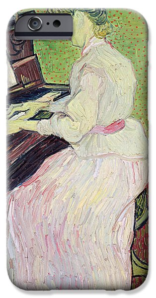 Piano iPhone Cases - Marguerite Gachet at the Piano iPhone Case by Vincent Van Gogh