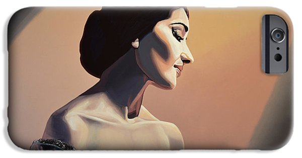 Fame iPhone Cases - Maria Callas iPhone Case by Paul Meijering