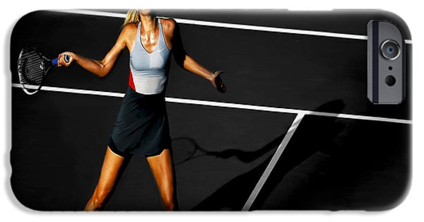 Wta iPhone Cases - Maria Sharapova iPhone Case by Brian Reaves