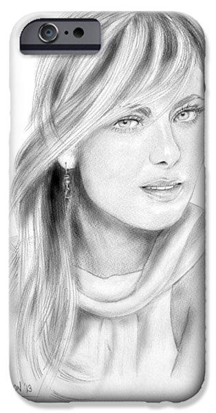 Maria Sharapova iPhone Case by Dave Lawson