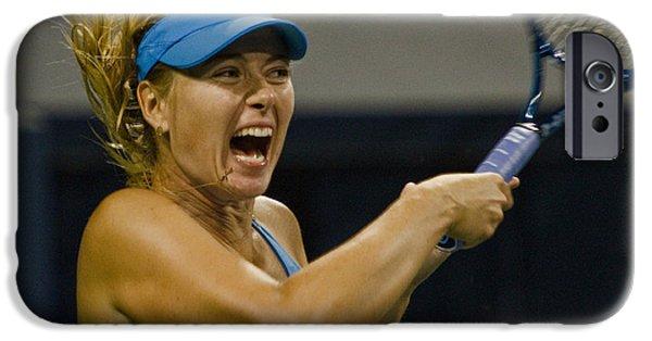 Maria Sharapova Photographs iPhone Cases - Maria Sharapova iPhone Case by David Long