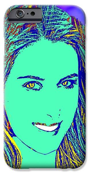 Maria Sharapova iPhone Cases - Maria Sharapova Golden iPhone Case by Dalon Ryan