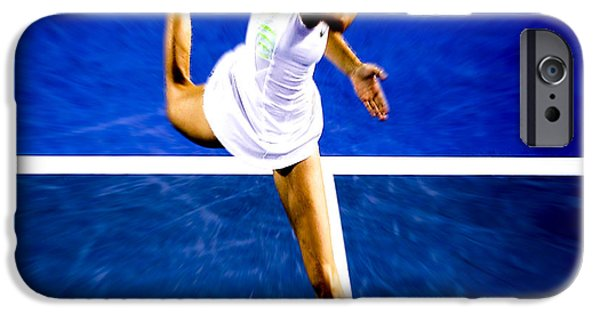 Wta iPhone Cases - Maria Sharapova in a Zone iPhone Case by Brian Reaves