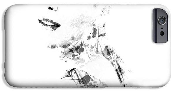 Wta iPhone Cases - Maria Sharapova Paint Splatter 1a iPhone Case by Brian Reaves