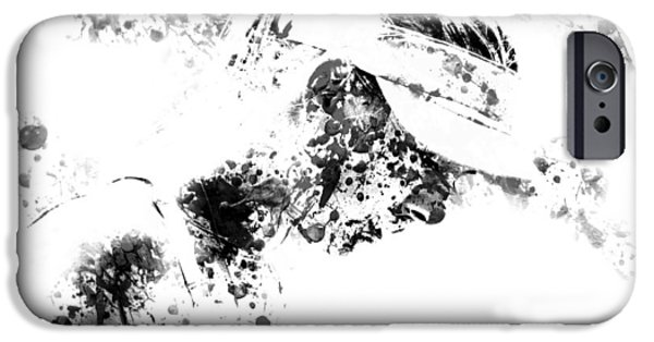 Wta Digital Art iPhone Cases - Maria Sharapova Paint Splatter 4g iPhone Case by Brian Reaves
