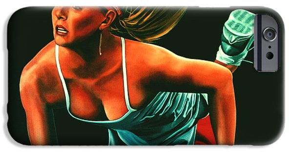 Atp World Tour iPhone Cases - Maria Sharapova  iPhone Case by Paul  Meijering