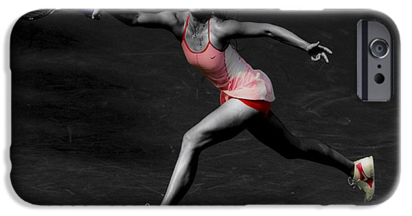 Wta iPhone Cases - Maria Sharapova Reaching Out iPhone Case by Brian Reaves