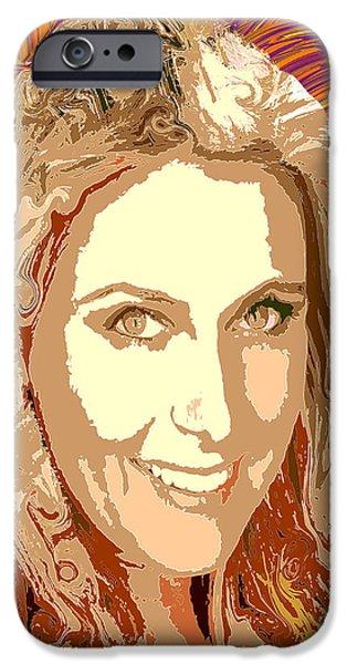 Maria Sharapova iPhone Cases - Maria Sharapova Tennis iPhone Case by Dalon Ryan
