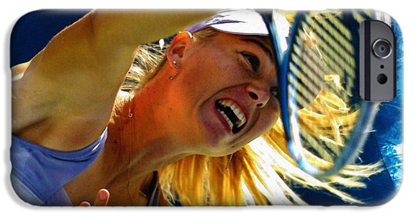 Wta iPhone Cases - Maria Sharapova  in action during the womens singles  iPhone Case by Don Kuing
