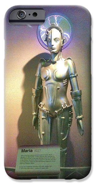 Carnegie Museum iPhone Cases - Maria the Metropolis Robot iPhone Case by Martha Nelson
