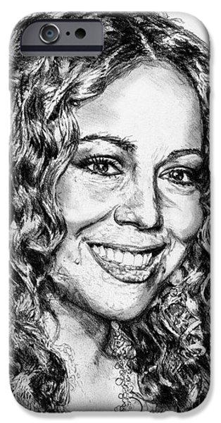 Mariah Carey iPhone Cases - Mariah Carey in 2012 iPhone Case by J McCombie