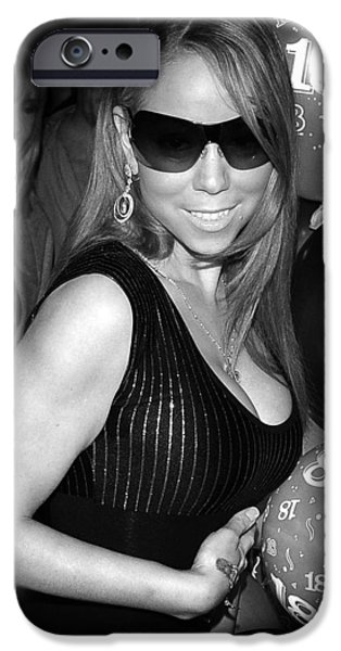 Mariah Carey iPhone Cases - Mariah Carey iPhone Case by Paul Sutcliffe